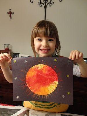 خورشید در نقاشی کودکان